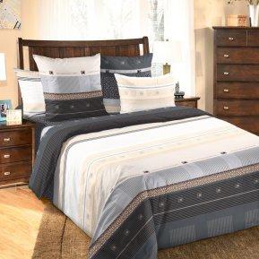 «Мишель (черный)» двуспальное (на резинке) постельное белье, БЯЗЬ, Текс-Дизайн