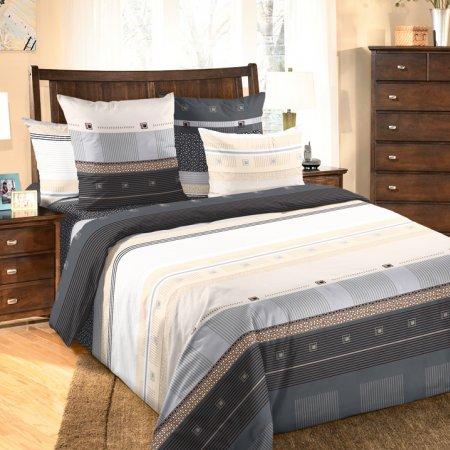 Постельное белье «Мишель (черный)» 1,5 - спальное (на резинке), Бязь, Текс-Дизайн