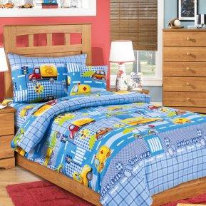 Машинки (голубой) дет. кроватка