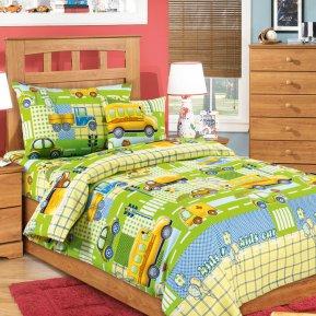 Машинки (зеленый) дет. кроватка