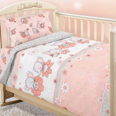 «Слоники №2» дет. кроватка постельное белье, Бязь, Текс-Дизайн