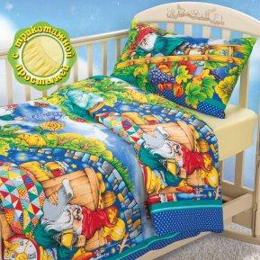 «Гномики» дет. кроватка на резинке постельное белье, БЯЗЬ, Текс-Дизайн