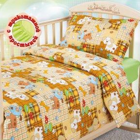 «Тузик» дет. кроватка на резинке постельное белье, БЯЗЬ, Текс-Дизайн