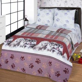 «Пушистое счастье» 1,5 - спальное постельное белье, БЯЗЬ, Арт Дизайн