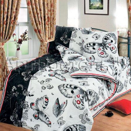 «Бабочки» 1,5 - спальное постельное белье, Бязь, Арт Дизайн