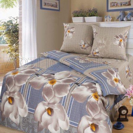 Постельное белье «Барбара» двуспальное с европростыней, Бязь, Арт Дизайн