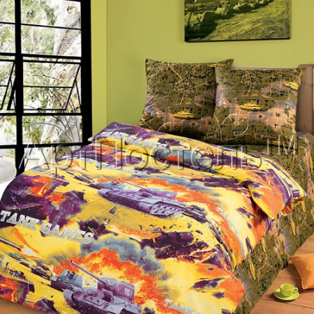 «Баталия» 1,5 - спальное постельное белье, Бязь, Арт Дизайн