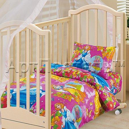 «Царевна» дет. кроватка постельное белье, Бязь, Арт Дизайн