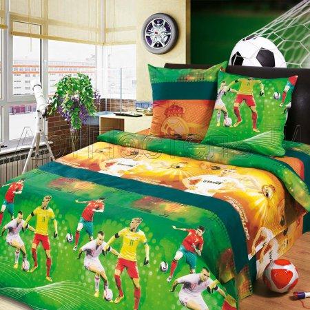 Постельное белье «Чемпионат мира» 1,5 - спальное, Бязь, Арт Дизайн