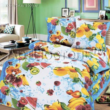 «Фруктовый микс» 1,5 - спальное постельное белье, Бязь, Арт Дизайн