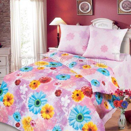 Постельное белье «Герберы» 1,5 - спальное, Бязь, Арт Дизайн