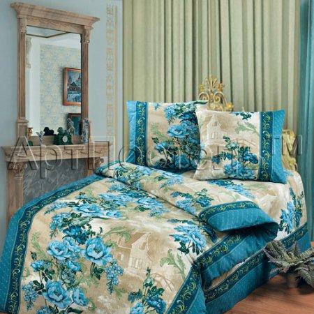 «Гобелен (синий)» 1,5 - спальное постельное белье, Бязь, Арт Дизайн