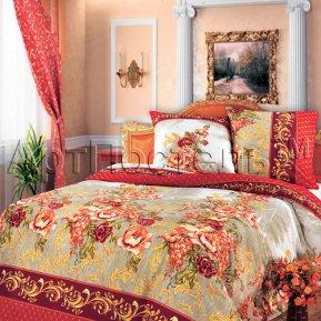 «Гобелен (красный)» семейное постельное белье, БЯЗЬ, Арт Дизайн