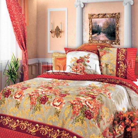 Постельное белье «Гобелен (красный)» двуспальное, Бязь, Арт Дизайн