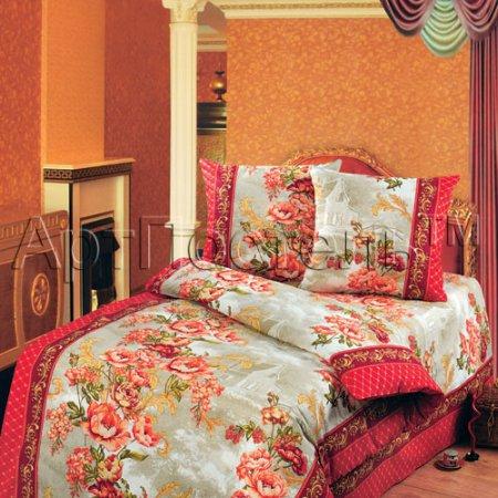 Постельное белье «Гобелен (красный)» 1,5 - спальное, Бязь, Арт Дизайн