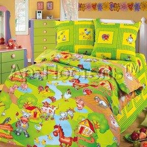 «Хуторок» 1,5 - спальное постельное белье, БЯЗЬ, Арт Дизайн