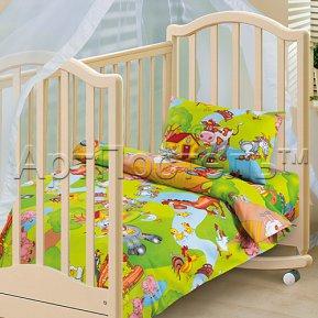 «Хуторок» дет. кроватка постельное белье, БЯЗЬ, Арт Дизайн