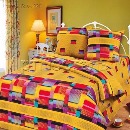 Постельное белье «Идея» двуспальное с европростыней, Бязь, Арт Дизайн