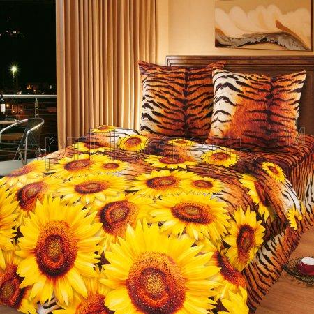 «Жаркое лето» двуспальное с европростыней постельное белье, Бязь, Арт Дизайн