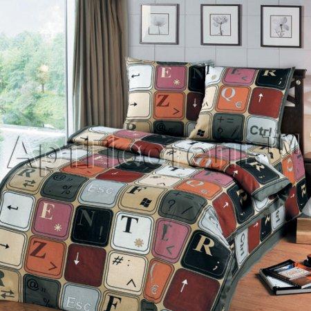 Постельное белье «Клавиатура» 1,5 - спальное, Бязь, Арт Дизайн
