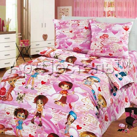 «Кокетка» 1,5 - спальное постельное белье, Бязь, Арт Дизайн