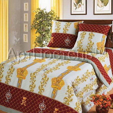 Постельное белье «Королевская постель» двуспальное с европростыней, Бязь, Арт Дизайн