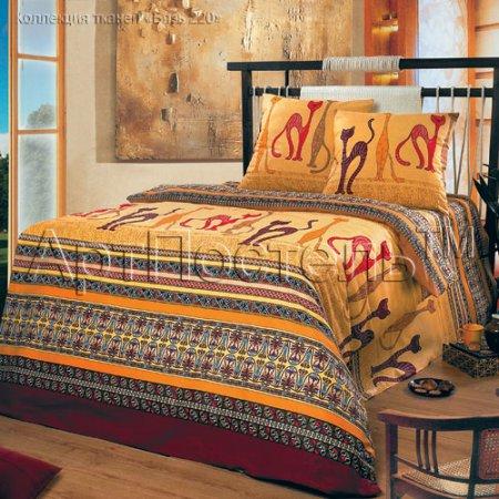 «Кошки» двуспальное с европростыней постельное белье, Бязь, Арт Дизайн