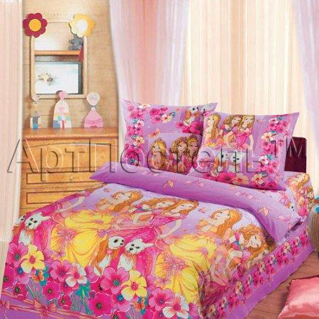 «Красавицы» 1,5 - спальное постельное белье, Бязь, Арт Дизайн