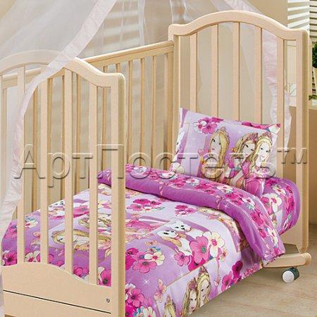 «Красавицы» дет. кроватка постельное белье, Бязь, Арт Дизайн