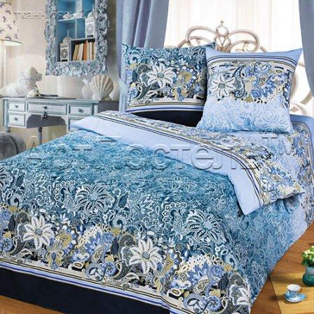 Постельное белье «Кружева» двуспальное с европростыней, Бязь, Арт Дизайн