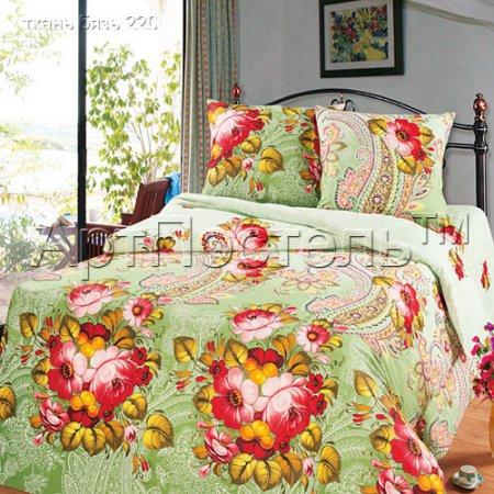 Постельное белье «Кураж» двуспальное с европростыней, Бязь, Арт Дизайн