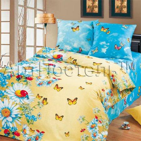 «Летний день» 1,5 - спальное постельное белье, Бязь, Арт Дизайн