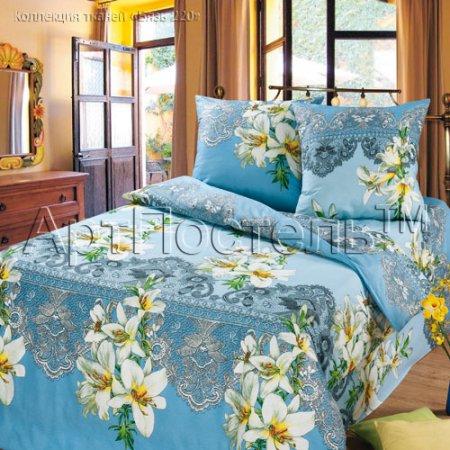«Лилии» двуспальное постельное белье, Бязь, Арт Дизайн