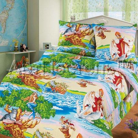 «Лукоморье» 1,5 - спальное постельное белье, Бязь, Арт Дизайн
