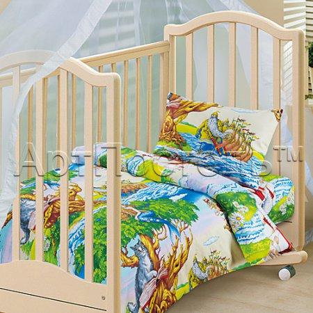 «Лукоморье» дет. кроватка постельное белье, Бязь, Арт Дизайн