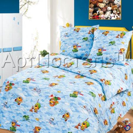 «Мишки в армии» 1,5 - спальное постельное белье, Бязь, Арт Дизайн