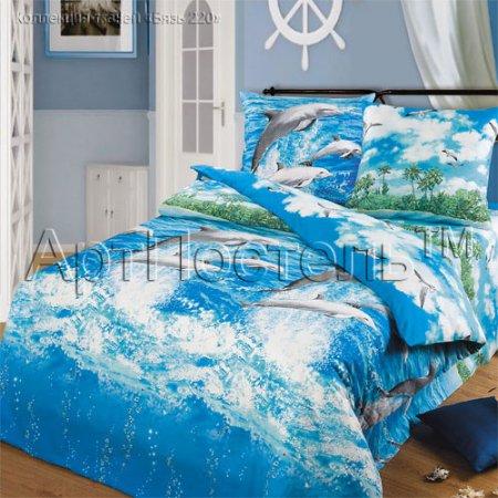Постельное белье «Морской бриз» 1,5 - спальное, Бязь, Арт Дизайн