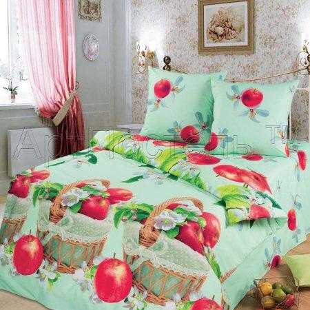«Наливные яблочки» ЕВРО постельное белье, Бязь, Арт Дизайн