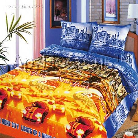 «Ночной город» двуспальное с европростыней постельное белье, Бязь, Арт Дизайн