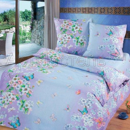 Постельное белье «Очарование весны (фиолетовый)» 1,5 - спальное, Бязь, Арт Дизайн