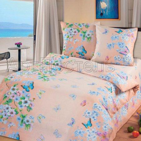 «Очарование весны (розовый)» 1,5 - спальное постельное белье, Бязь, Арт Дизайн