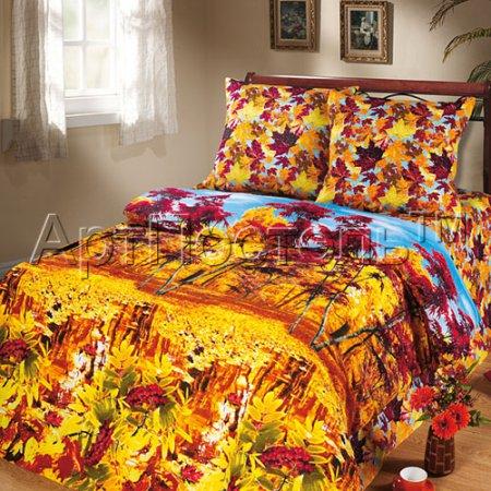 Постельное белье «Осень» 1,5 - спальное, Бязь, Арт Дизайн