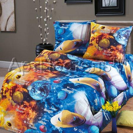 Постельное белье «Парад планет» 1,5 - спальное, Бязь, Арт Дизайн