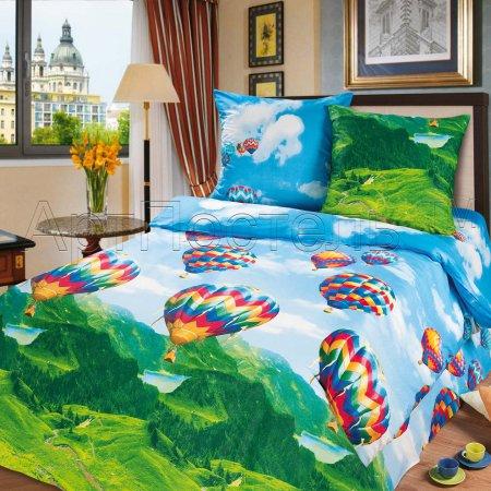 «Парад шаров» ЕВРО постельное белье, Бязь, Арт Дизайн