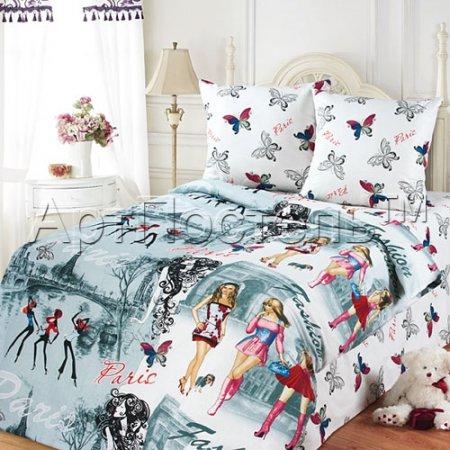 «Париж» 1,5 - спальное постельное белье, Бязь, Арт Дизайн