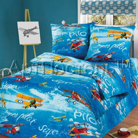 «Пилот» 1,5 - спальное постельное белье, Бязь, Арт Дизайн