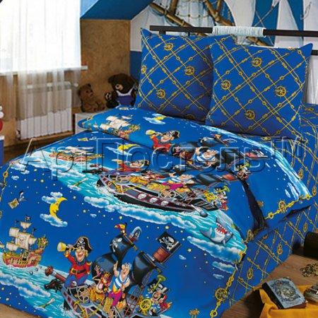 «Пираты» 1,5 - спальное постельное белье, Бязь, Арт Дизайн