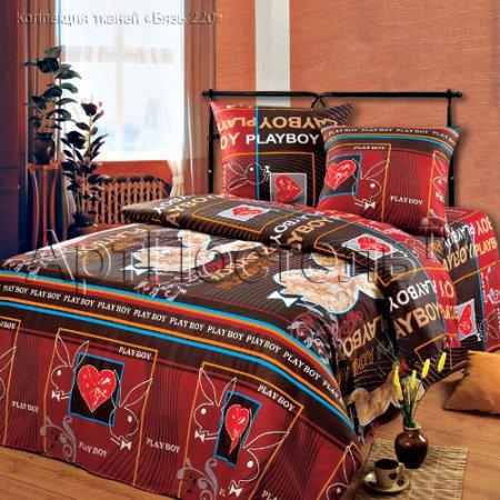 «Плейбой» двуспальное постельное белье, Бязь, Арт Дизайн