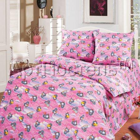 «Подарок (розовый)» 1,5 - спальное постельное белье, Бязь, Арт Дизайн