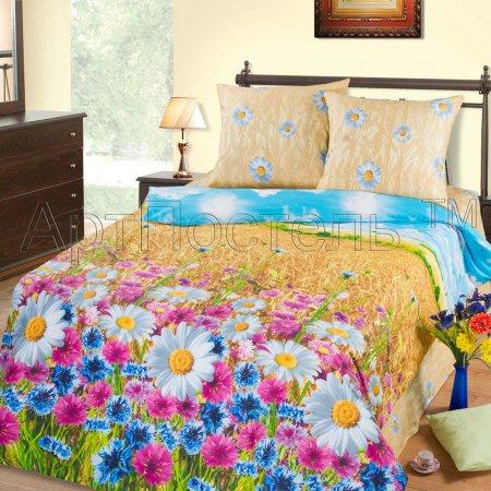Постельное белье «Пшеничное поле» 1,5 - спальное, Бязь, Арт Дизайн